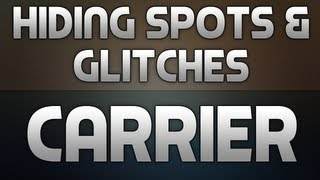 BO2: Hiding Spots + Glitches On Carrier
