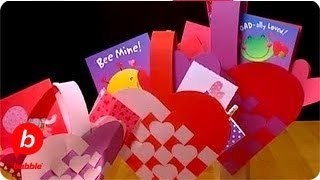 How To Make A Valentine's Day Woven Heart Basket Crafts