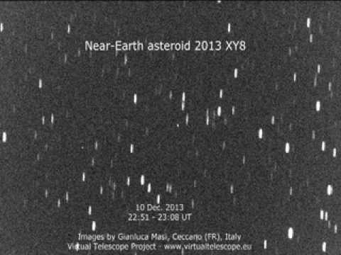 Near-Earth asteroid 2013 XY8 close encounter