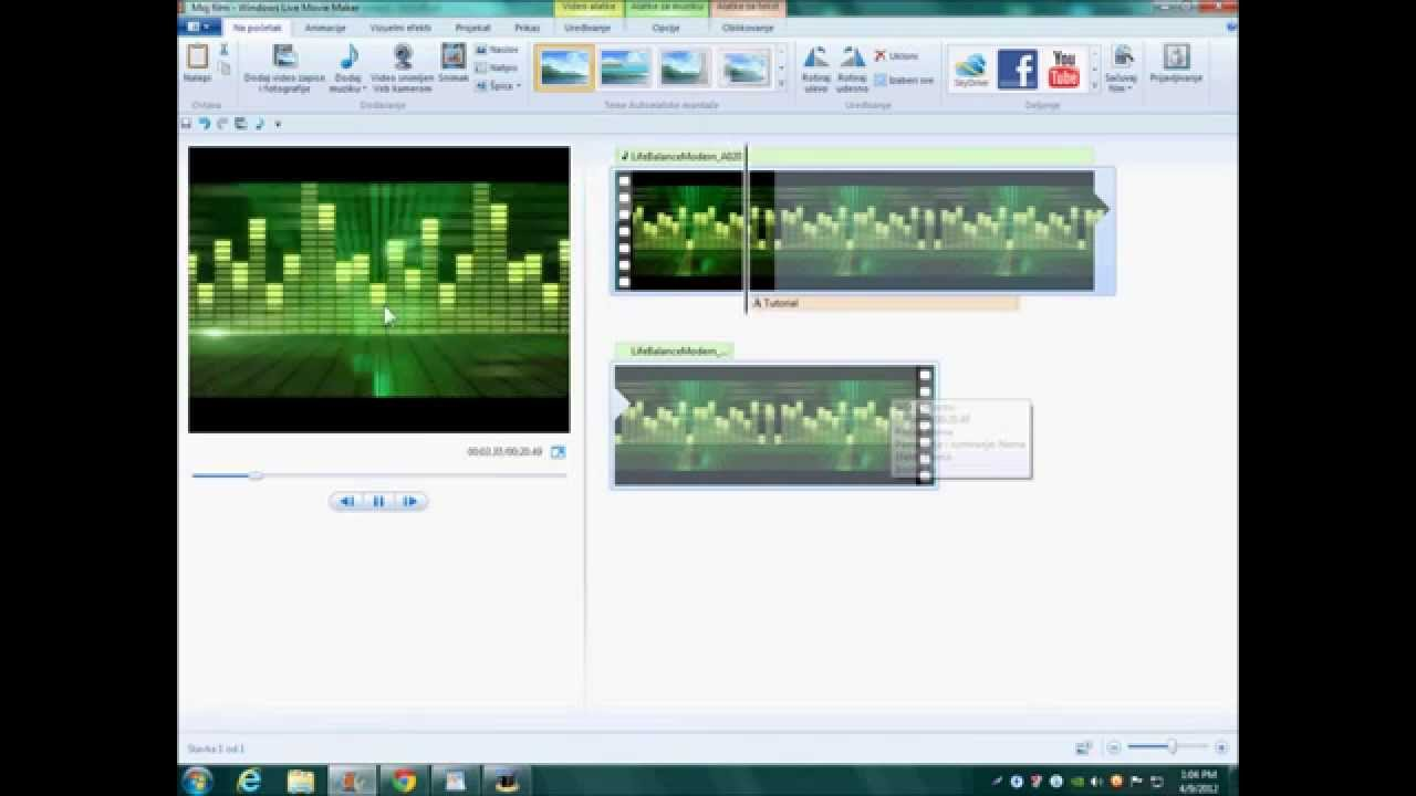 How to make cool intro in Windows Live Movie Maker 2012 ...