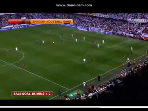 Gareth Bale Goal - Barcellona 1_2 Real Madrid, final Copa del Rey 16.04.2014