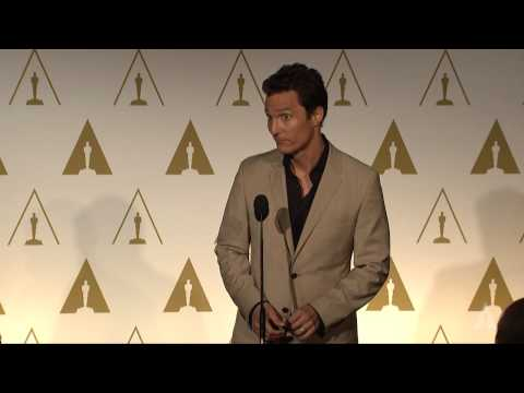 Matthew McConaughey at the 86th Oscars® Nominees Luncheon