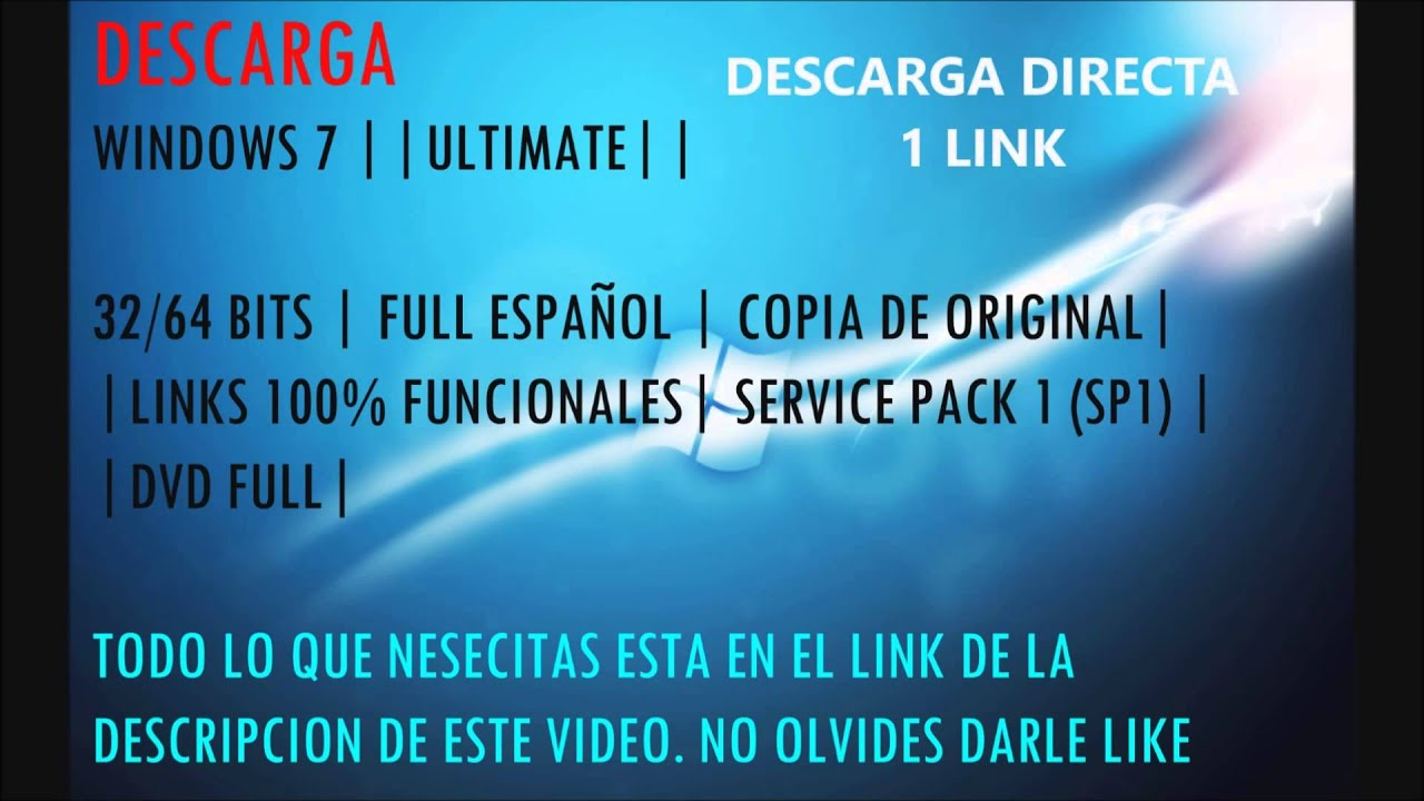 descargar windows 7 ultimate 32 bits 1 link espanol iso gratis