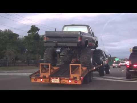 Huge Lifted Chevy 4x4 Mud Truck