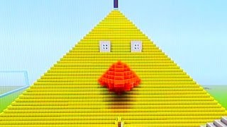 Minecraft GIANT ANGRY BIRDS Pyramid!