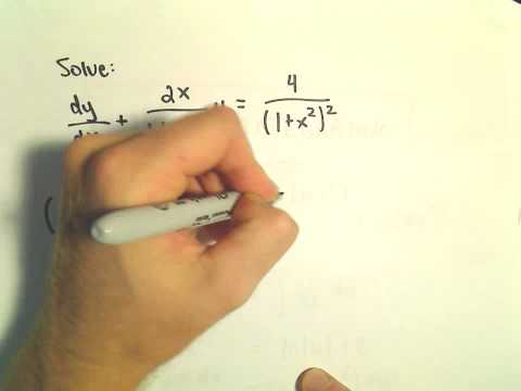 First Order Linear Differential Equations / Integrating Factors - Ex 2