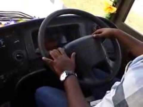 me Vijay Babu Guni driving my volvo bus at top speed vamshi tours and travels