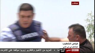 مراسل بي بي سي يتعرض لاعتداء من أحد الإسرائيليين | قنوات أخرى