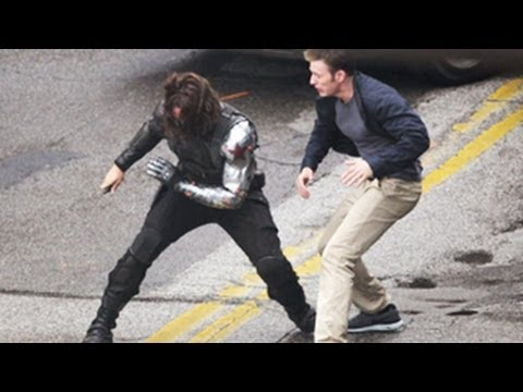 Captain America : The Winter Soldier -- Chris Evans, Scarlett Johansson Movie Stills-- Released