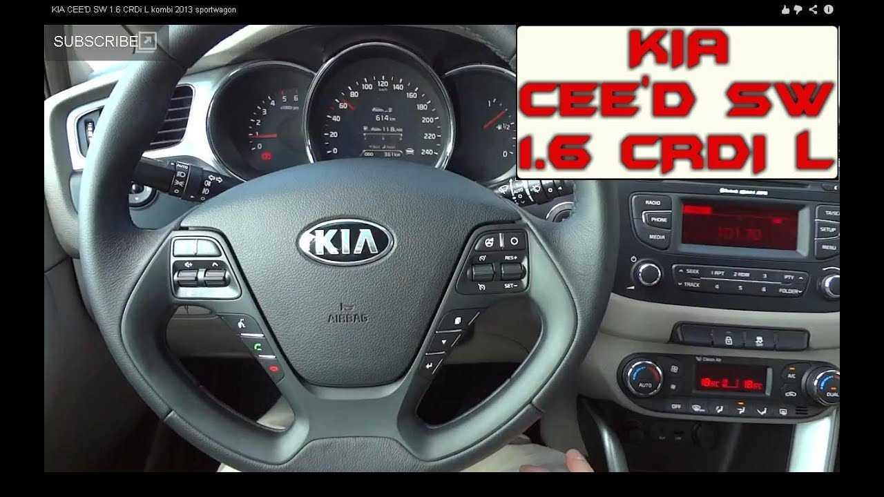 kia ceed sw 2012 1 6 crdi l kombi sportwagon youtube. Black Bedroom Furniture Sets. Home Design Ideas