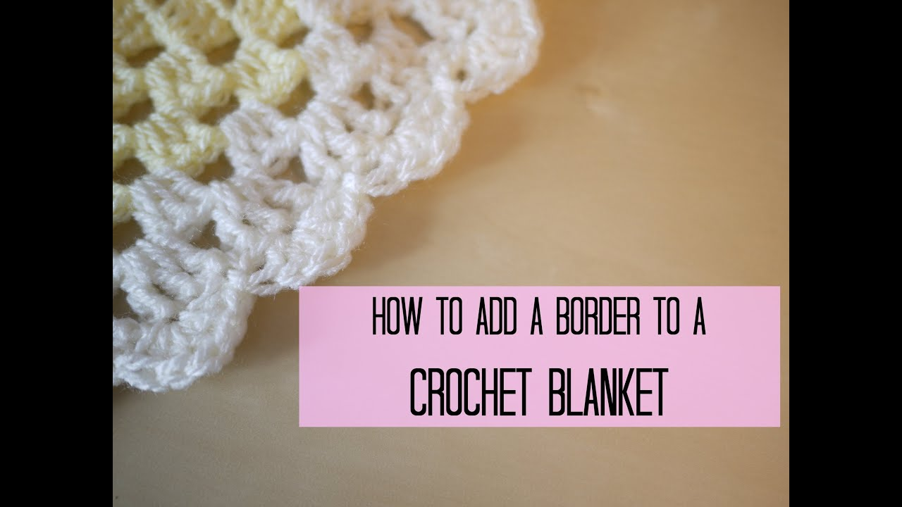 ... add a crochet border (scalloped/shell edging) Bella Coco - YouTube