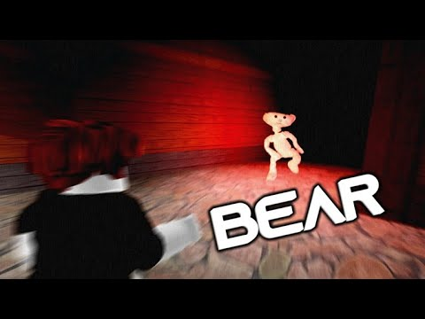 SCARY ROBLOX GAME! BEAR CHASE! 🐻 = 🏃
