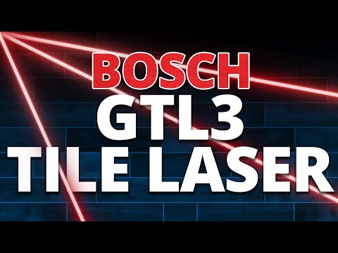 Demo of the Bosch GTL3 Tile Laser
