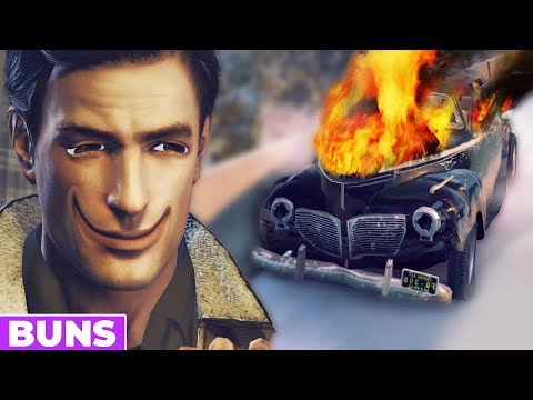 This game trusted my driving abilities - Mafia 2 Funny Moments