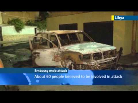 Russian embassy in Libya attacked by mob