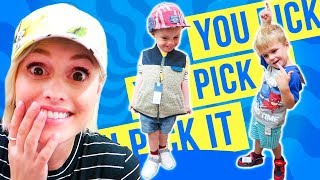 BACK TO SCHOOL SHOPPiNG! Kids Pick Their Own Clothes?!
