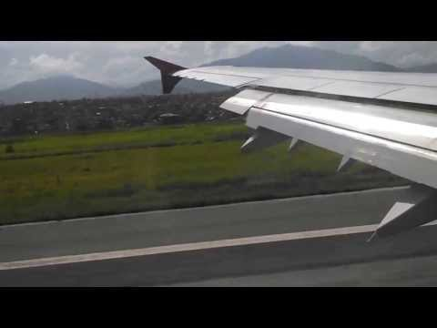 Landing at Kathmandu Airport - Air India Airbus A321