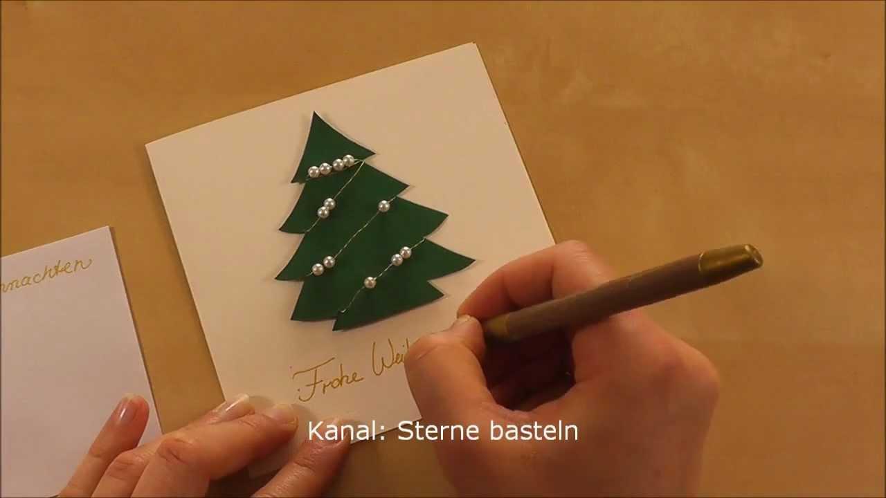 Weihnachtskarten basteln youtube for Originelle weihnachtskarten basteln