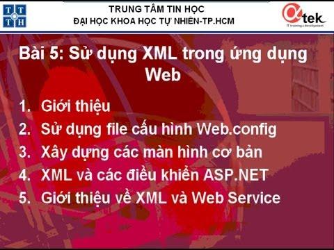 Bài 5: Sử dụng XML trong ứng dụng Web.
