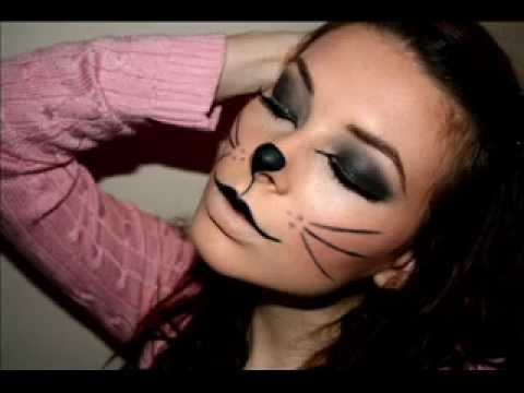 kitty cat makeup for halloween photos youtube. Black Bedroom Furniture Sets. Home Design Ideas