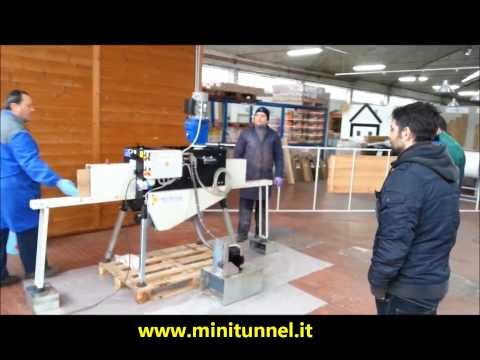 Test KHR Minitunnel machine with Treatex hard wax oil