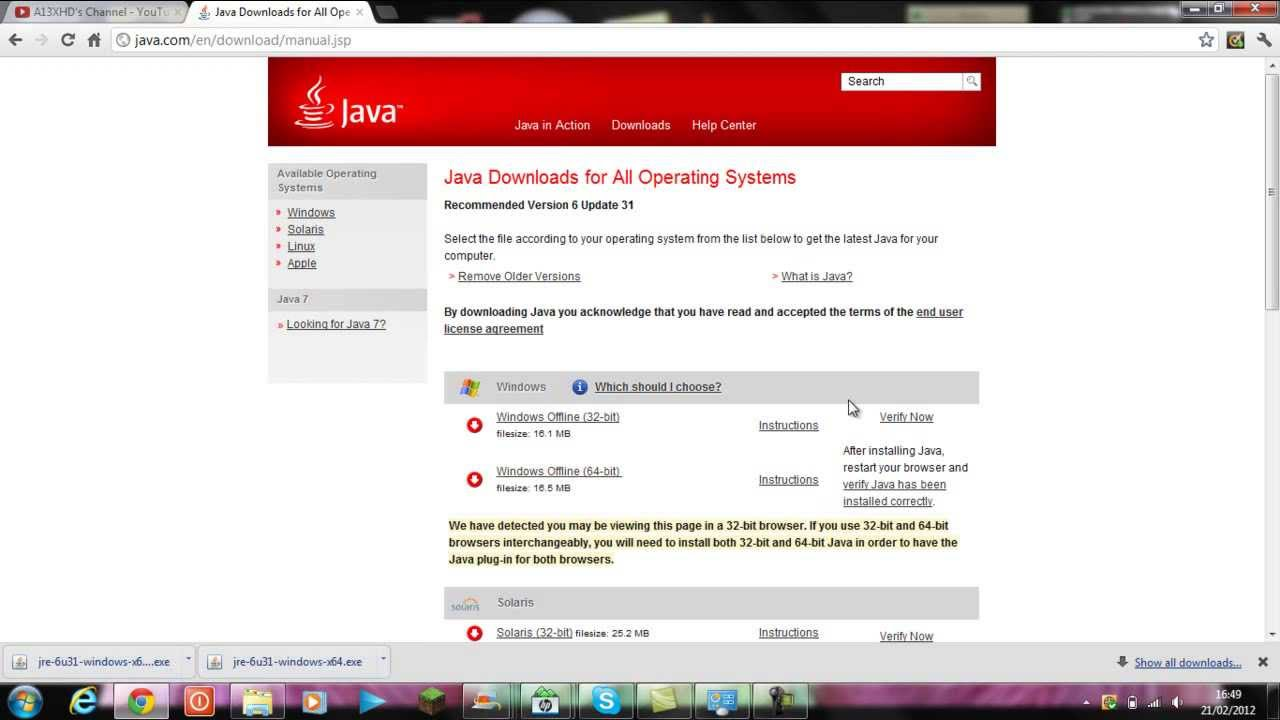 How To Download 64 Bit Java (HD) - YouTube