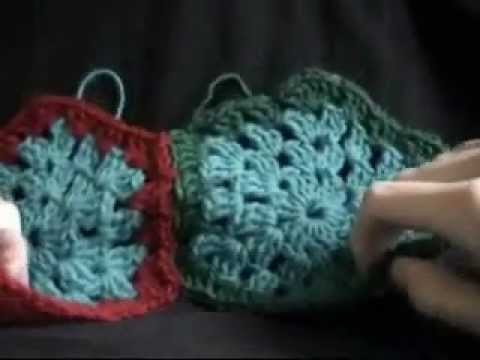 Crochet Hexagon Granny Part 4 of  5  - Tutorial includes joining