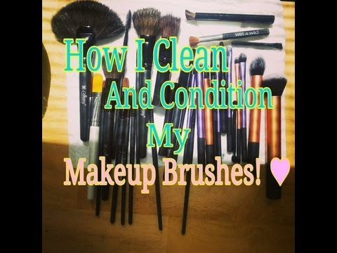 How I Clean and Condition My Makeup Brushes!