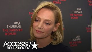 Uma Thurman Gets Emotional About Women Speaking Out On Sexual Harassment In Hollywood