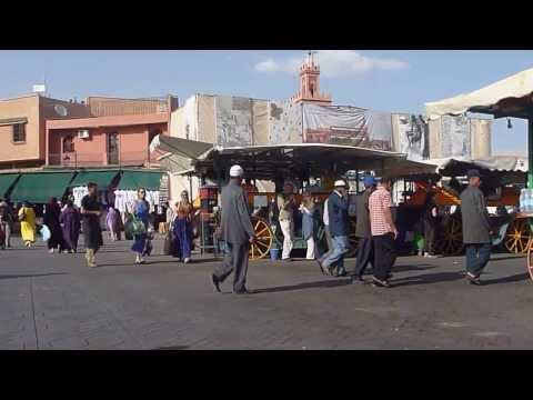 MOROCCO - Marrakech Market Square | Morocco Travel - Vacation, Tourism, Holidays  [HD]