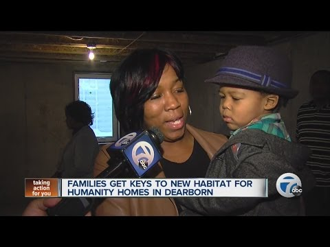 Families get keys to Habitat for Humanity homes in Dearborn