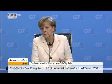 Abschluss G7-Gipfel: Angela Merkel gibt Pressekonferenz am 05.06.2014