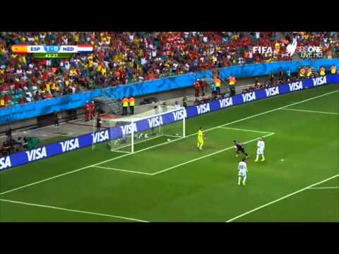 Robin van Persie flying headed goal - 2014 World Cup