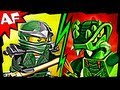 GREEN NINJA vs LIZARU  - Lego Ninjago Spinjitzu Battle & Animated Review 9574