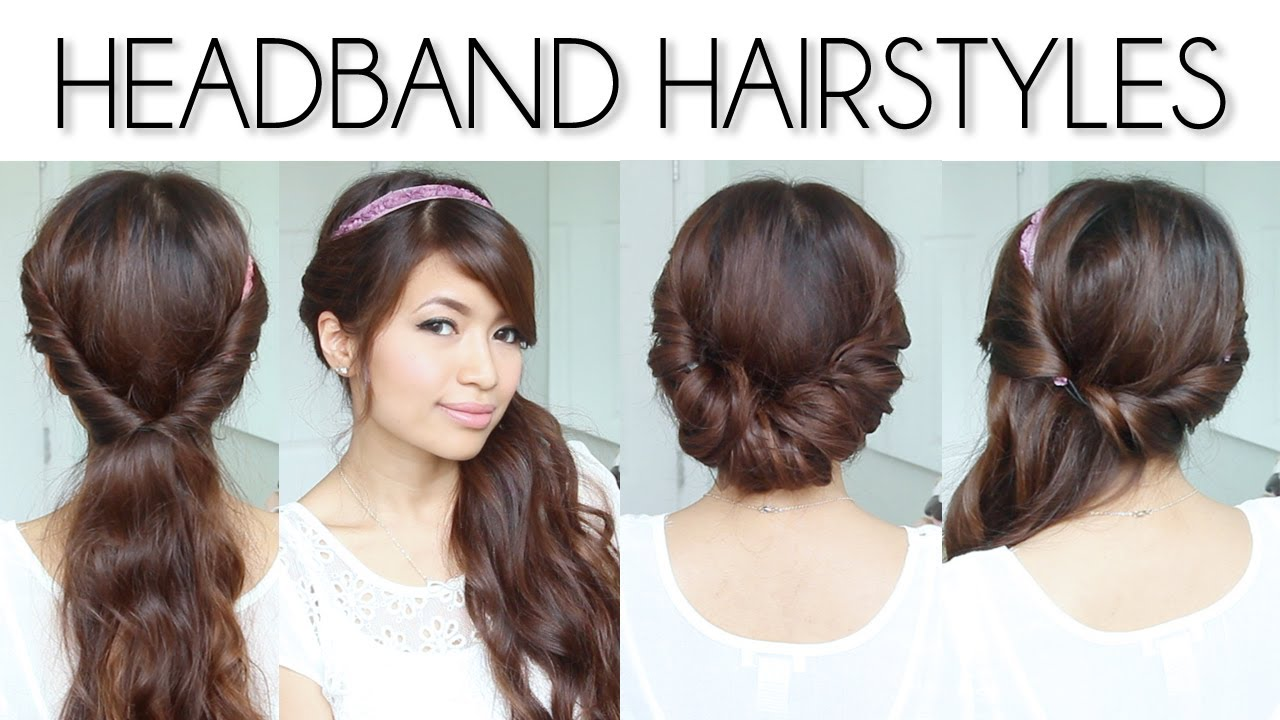Simple Hairstyles For Long Hair Youtube : Easy Everyday Headband Hairstyles for Short and Long Hair Tutorial ...