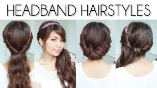 ♥ Easy Everyday Headband Hairstyles For Short And Long