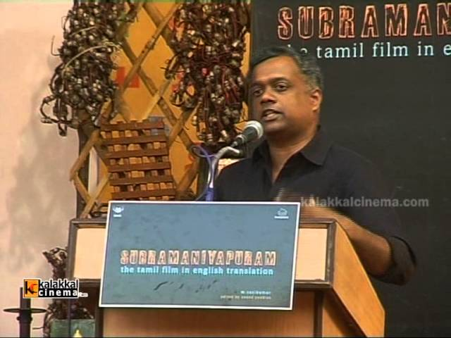 Gautham Menon at Subramaniapuram English Book Release