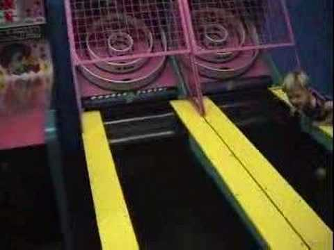 Kid hit with Skee Ball