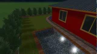 3D prezentácia záhrady - večerný prelet