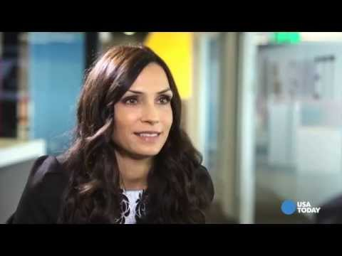 Famke Janssen is a fan of BlackBerry, not of selfies