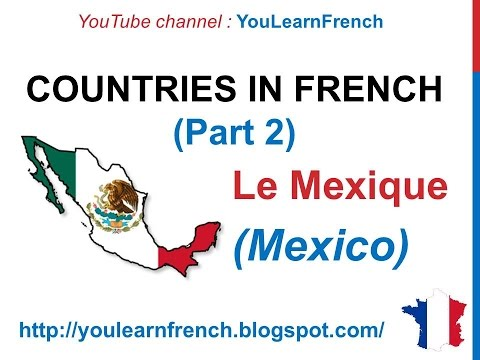 French Lesson 53 - Les pays du monde (Names of countries of the world) G to N + Pronunciation Flags