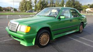 Money Green Mercedes Benz 260E Custom Spoiler W124 Body