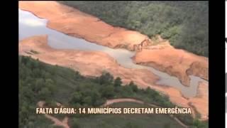 Falta d'�gua: 14 munic�pios decretam emerg�ncia