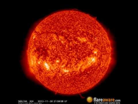 30 Nov - 1 Dec: 24 Hour Solar Activity (Earth Facing; Solar Storm, Sunspot, Solar Flare, CME)