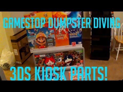 Gamestop Dumpster Diving #1- 3DS Kiosk Part Finds- EPICNESS!!