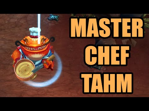 Master Chef Tahm Skin Spotlight - League of Legends Gameplay Preview