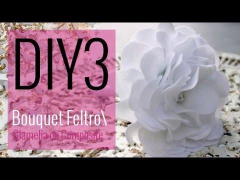 [DIY 3- CASAMENTO] Bouquet de Noiva com Flor de Feltro