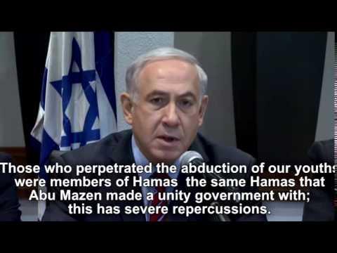 Netanyahu: Hamas Kidnapped Missing Boys