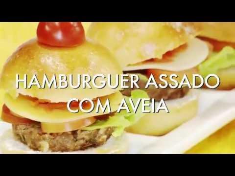 HAMBURGUER ASSADO COM AVEIA