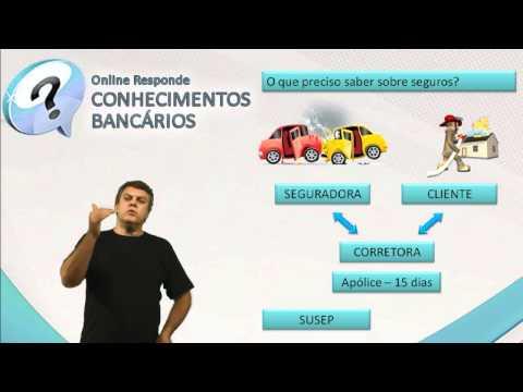 Conhecimentos Bancários - Como Funciona o Seguro - Vídeo Aula Concurso 2014